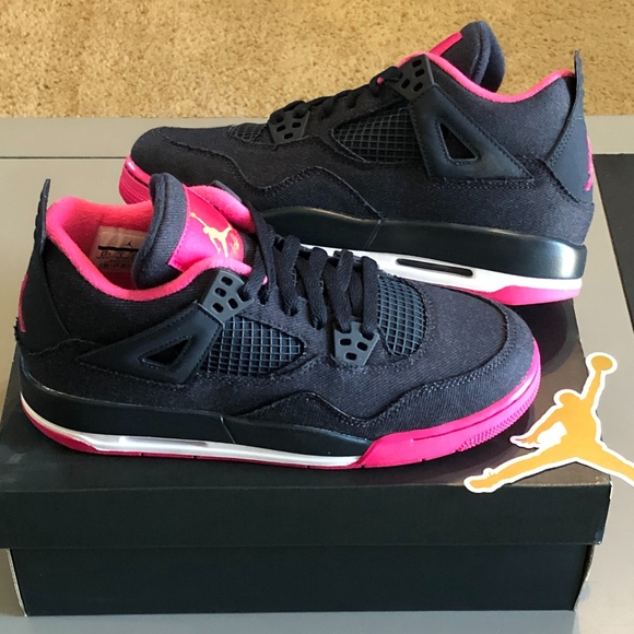 DS Nike Air Jordan 4 IV Retro Denim PINK size 5.5y